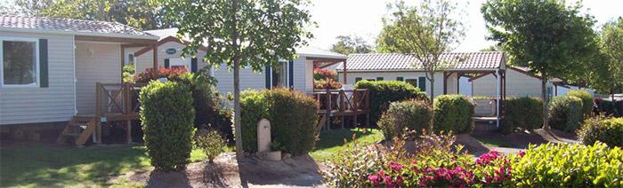 séjour avec vente de mobil home camping les Sables d'Olonne